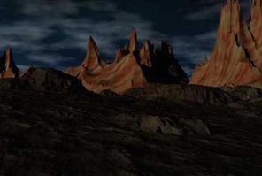 Badlands Scene